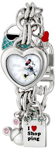 - Disney Women's MN2010 Minnie Mouse Mother-of-Pearl Dial Charm Watch