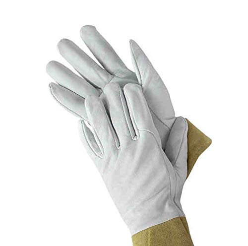- BHDYHM Short Sleeves Welding Safety Gloves, Cotton Lined Stitching Welders Gauntlets Accessories Gloves