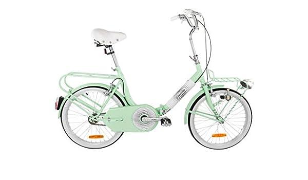 iVel MBM Style bicicleta 20 Dolcevita verde agua plegable Custom Vintage: Amazon.es: Deportes y aire libre