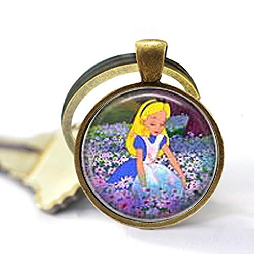Alice Sitting in The Flowers Keychain for $<!--$3.99-->