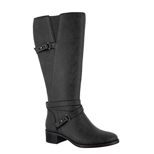 Womens Black Harness Boots - 7