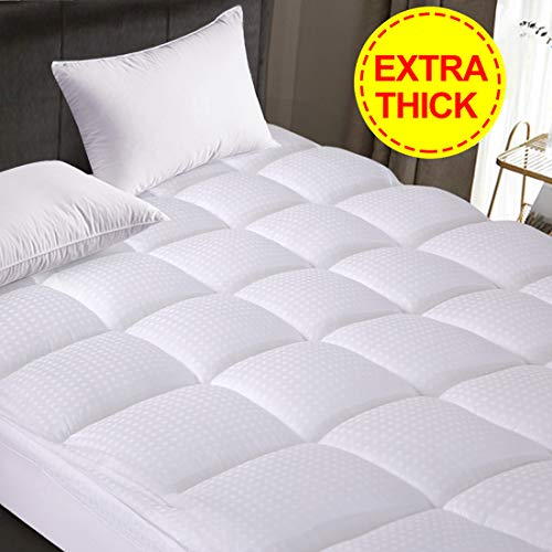 Starcast  Abakan Mattress Topper Extra Thick (California King) -Pillow Top Cooling Fitted Mattress Toppers Cover (Deep Pocket 8-21Inch)-400TC Down Alternative Quilted Mattress Pads