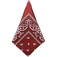 Bandana Vermelha com Estampa Paisley