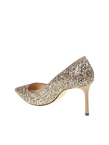 Jimmy Choo Mujer ROMY85SAO Oro Lentejuelas Zapatos Altos