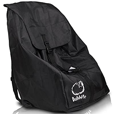 Car Seat Travel Bag - Ultra Strong Gate Check Carseat Backpack & Cover Keeps Hands Free & Protects Infant Carriers, Baby Seats & Boosters During Air Travel - by Bubbite