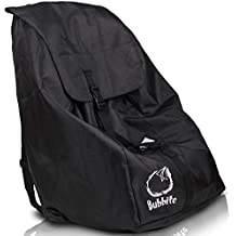 Car Seat Travel Bag - Ultra Strong Gate Check Carseat Backpack Keeps Hands Free & Protects Infant Carriers, Baby Seats & Boosters during Air Travel - Cover is Water Resistant - by Bubbite