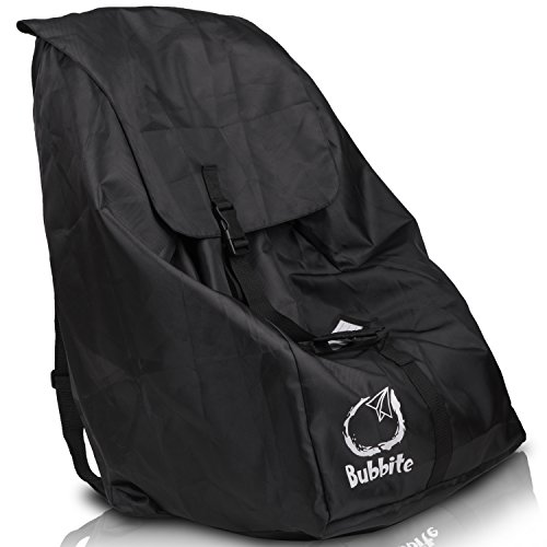 Car Seat Travel Bag - Ultra Strong Gate Check Carseat Backpack & Cover Keeps Hands Free & Protects Infant Carriers, Baby Seats & Boosters During Air Travel - by Bubbite ()
