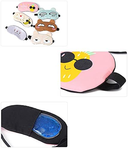 Lubier Voyage Accessoires Articles m/énagers Ice Bag Mignon en Peluche Gros Yeux Sleep Rest Shading Eye Ice Pad Lunettes Bandes