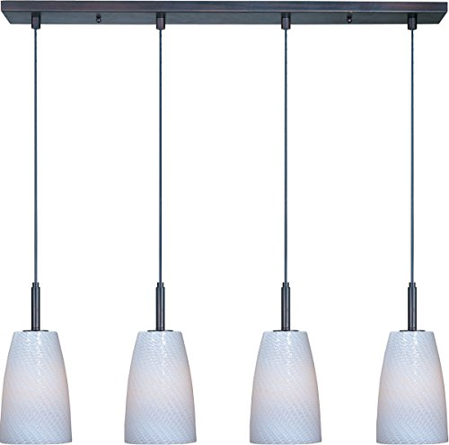 Carte 4 Light Pendant Finish / Height / Glass / Bulb Type: Bronze / 11