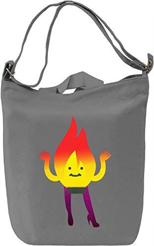 Naked Flame Borsa Giornaliera Canvas Canvas Day Bag  100% Premium Cotton Canvas  DTG Printing 