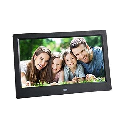 Morrivoe 10 inch 1024 x 600 Hi-Res LED Digital Photo Frame MP3 Video Player with SD Card/Remote Control/ Calendar/Clock, Support HDMI/SD/MMC/USB Flash Drives