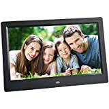 Morrivoe 10 inch 1024 x 600 Hi-Res LED Digital Photo Frame MP3 Video Player with SD Card/Remote Control/ Calendar/Clock, Support SD/MMC/USB Flash Drives