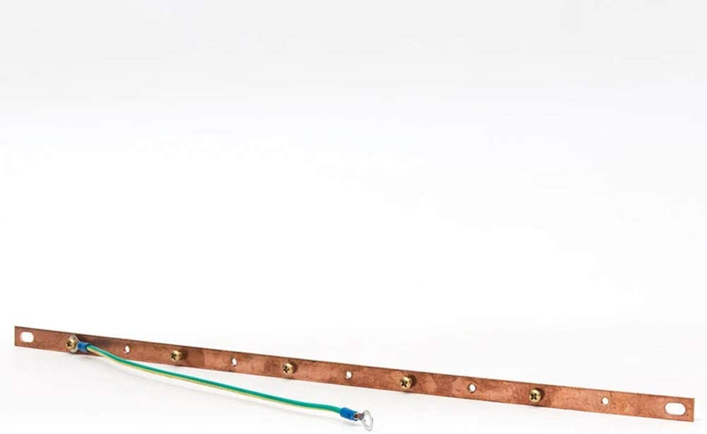 Quest Manufacturing Rack Mount Grounding Copper Bus Bar for Use with 19 Racks Bolts to Back of Rack