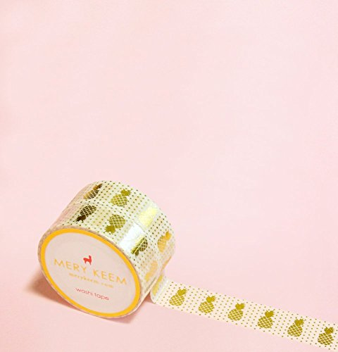 Pineapple Gold Foil Washi Tape for Planning • Scrapbooking • Arts Crafts • Office • Party Supplies • Gift Wrapping • Colorful Decorative • Masking Tapes • DIY from MERYKEEM
