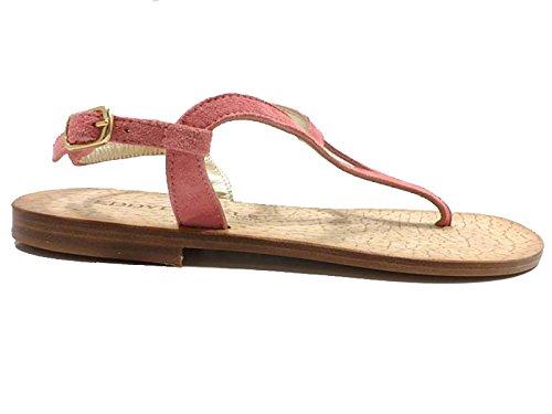 EDDY DANIELE Zapatos Mujer 37 Sandalias Rosa Gamuza AW317/AW318 diAWs
