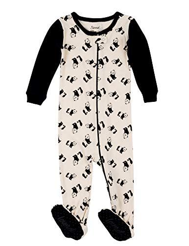 Leveret Kids Pajamas Baby Boys Girls Footed Pajamas Sleeper 100% Cotton (Panda, Size 2 Toddler)