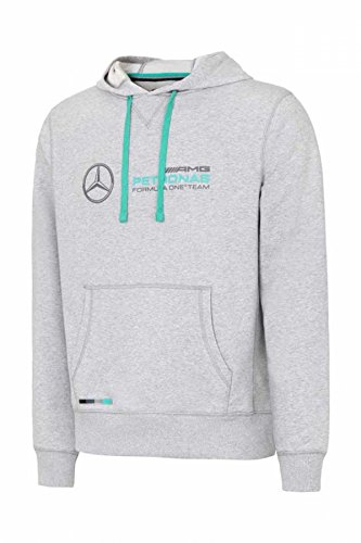 Mercedes Benz AMG Petronas Formula 1 Men's Gray MAMGP Hooded Sweatshirt (2XL) (Grau Ferrari)