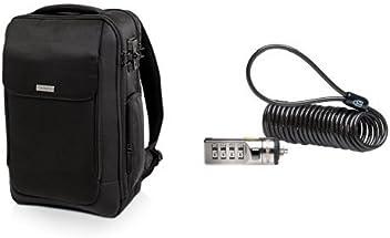 Kensington SecureTrek Lockable Anti-Theft 15-Inch Laptop Backpack & Kensington Portable Combination Lock