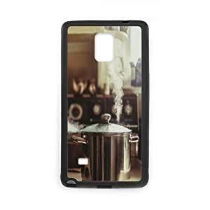 Samsung Galaxy Note 4 Case, a watched pot Case for Samsung Galaxy Note 4 Black