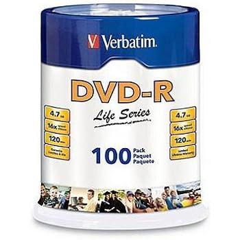 Verbatim - 100-Pack 16x DVD-R Disc Spindle