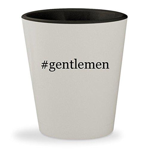 #gentlemen - Hashtag White Outer & Black Inner Ceramic 1.5oz Shot Glass