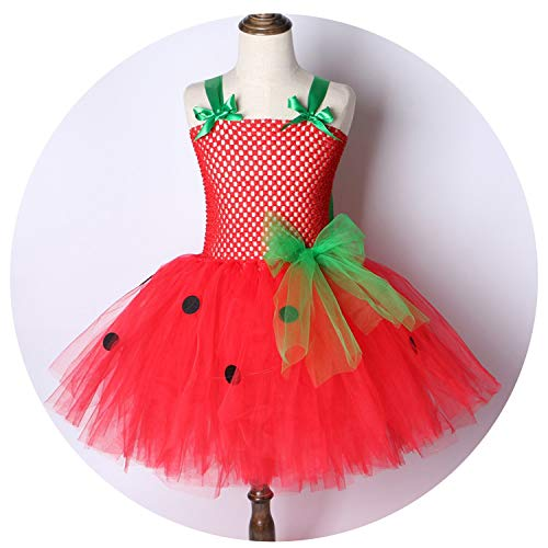 Strawberrys Party Dress Kids Birthday Christmas Halloween Costume Fors 2-12Y,BT014,11]()
