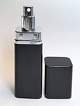 Enpty Refillable Perfume Atomizer In Black Color Travel Size And Reliably Leak Proof Atomizer Spray Pump. by Alice Aliya