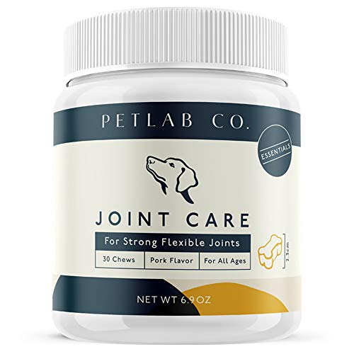 Pet Lab Joint Health Care Chews for Dogs | Arthritis Soft Chew Dog Hip and Joint Supplement Vitamins | Omega 3 Fatty Acids, Magnesium, MSM, Glucosamine Chondroitin Chewable Supplements