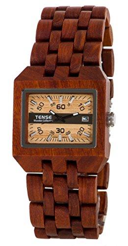 Tense Discovery Comox Rectangular Sandalwood Wooden Watch B5100S
