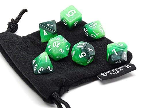 Forrest 3-tone Polyhedral Dice Set | 7 Pieceマッチングセット| Pristine Edition | Free Carryingバッグ|手チェック品質   B0774HDH13