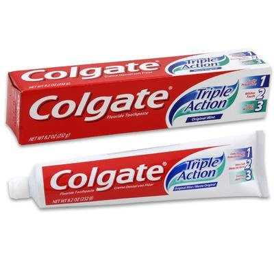 Colgate Triple Action Toothpaste Original Mint (2 Pack)
