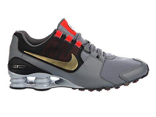 timeless design 4b3f7 619ce ... where can i buy nike shox avenue 833583 007 cool grey metallic gold  mens running shoes
