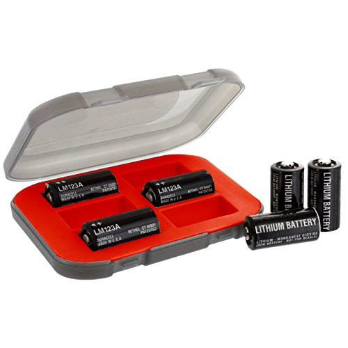 CR123 Combo 6 x CR-123 Exell Lithium Batteries w/ Case replaces 123A, 123-SANYO, 5018LC, 6205, BR2/3A, CR123, CR123-2, CR123-A, CR123A, CR123A-2, CR123R FREE USA SHIP