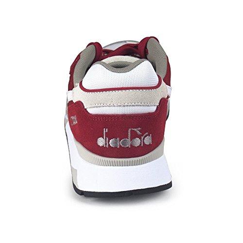 Diadora V7000 Nyl Ii, Zapatilla de Deporte Baja del Cuello Unisex Adulto Rojo