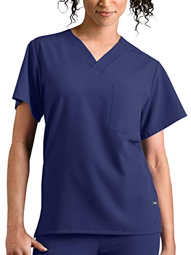 Jockey 'Unisex One Pocket Top' Scrub Top New Navy Large