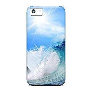 Excellent Design Playful Dolphin Case Cover For Iphone 5c