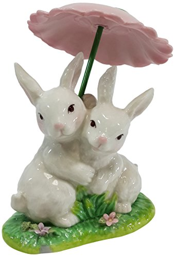 Cosmos Gifts 20877 Ceramic Rabbit Figurine, 4-1/4-Inch