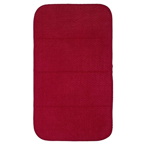 "Premium All-Clad Dual Surface, Reversible Dish Drying Mat for The Kitchen Counter, 1 Absorbent Drying Pad, 16"" x 28"", Chili Red"