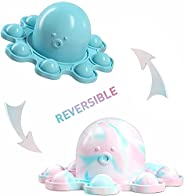 Reversible Octopus Pop Push It Bubble Fidget Toy Flip Cute and Small Octopus Squeeze Sensory Tools to Relieve