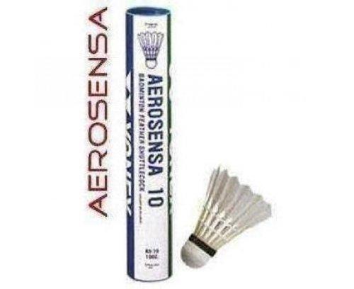 YONEX AeroSensa 10 Goose Feather Badminton Shuttlecocks Dozen , 78 Medium Blue