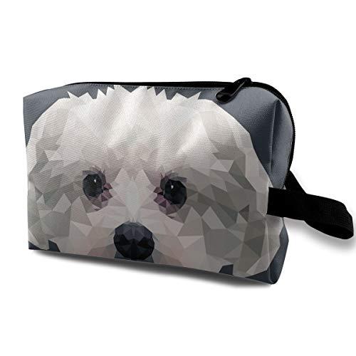 (LEIJGS Maltese Dog Portrait Small Travel Toiletry Bag Super Light Toiletry Organizer for Overnight Trip Bag )