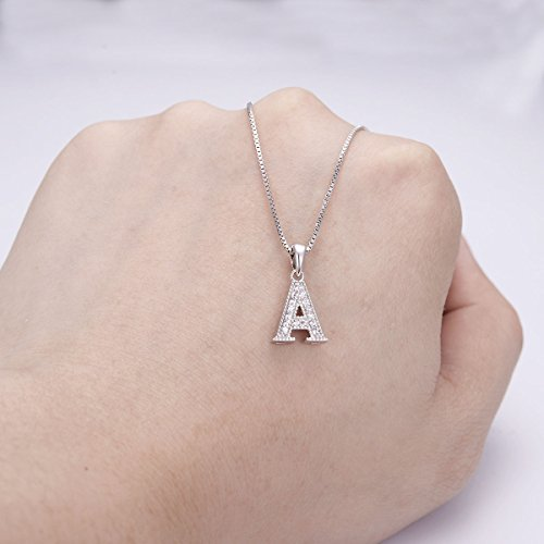 FANZE-Womens-925-Sterling-Silver-Cubic-Zirconia-Initial-Alphabet-A-Z-26-Letters-Pendant-Necklace