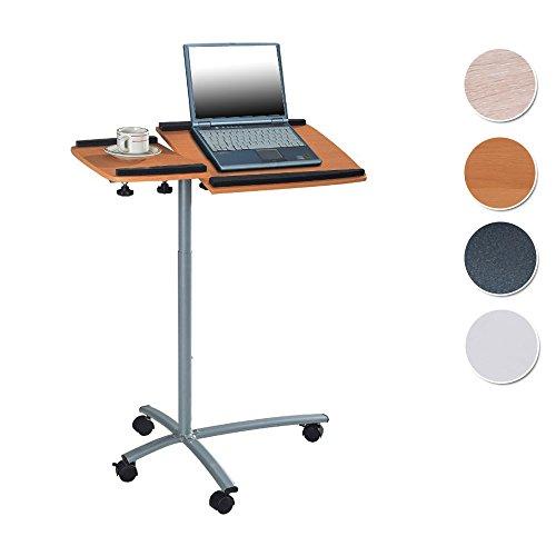 SixBros. Laptoptisch Projektionstisch Buche/Silbergrau - B-001N/59 - MDF Buchefarben - Gestell Metall Silbergrau