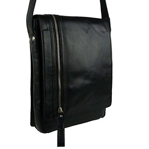 - Rowallan of Scotland Women's Leather North South Messenger Bag Onesize Black