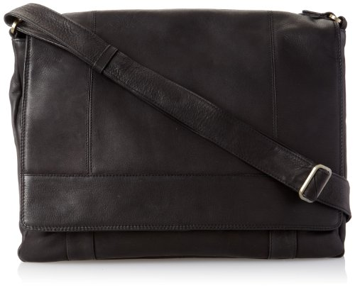 - Derek Alexander Ew 3/4 Flap Unisex Messenger Bag, Black, One Size