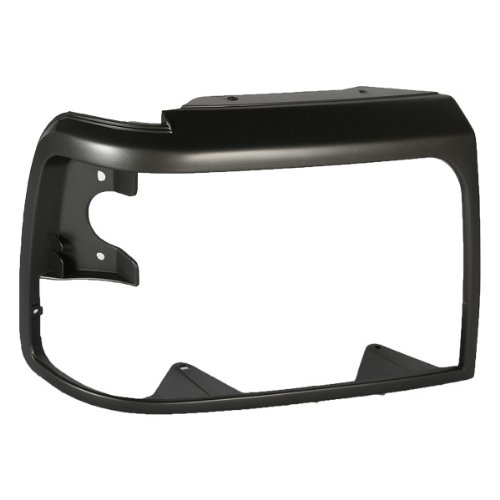 CarPartsDepot, Pickup Truck Passenger Side Frame Headlight Lamp Door Bezel Argent Gray Right, 302-18222-02 F2TZ13064A FO2513130