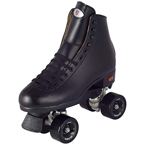 Riedell Skates - Citizen - Outdoor Quad Roller Skate | Black | Size 8 | (Outdoor Quad)