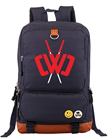 Men s and Women s Travel Backpacks, Chad Wild Clay Boys and Girls Fashion Canvas Outdoor notebook backpack One_Size, Navy blue