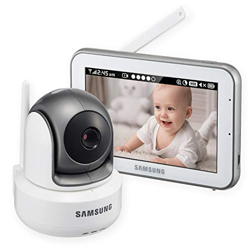 Samsung Wisenet BrightVIEW SEW-3043W-MRF HD Baby Video Monitoring System IR Night Vision PTZ 5.0 Inch. Touch Screen (Renewed)