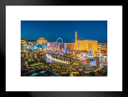 - Poster Foundry Las Vegas Strip Nevada Aerial View Photo Matted Framed Wall Art Print 20x26 inch